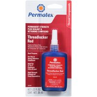 Permatex® 26240 Permanent Strength Threadlocker Red & C/C Plug Sealant Retaining Compound - 36 ml